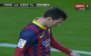 Messi falló ocasión de gol que pudo evitar la derrota del Barza