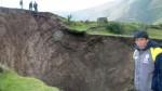 Agujero de 200 metros de profundidad sorprende a pobladores - Noticias de elisa paita berrospi