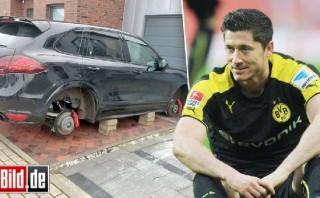 Hinchas del Dortmund dejaron sin llantas auto de Lewandowski