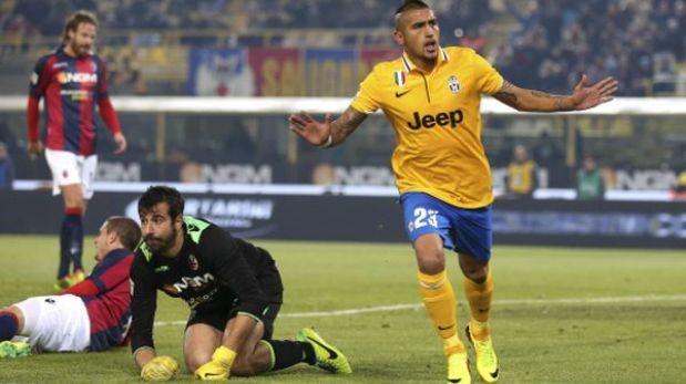 Juventus venció 2-0 al Bologna y le sacó 6 puntos a la Roma