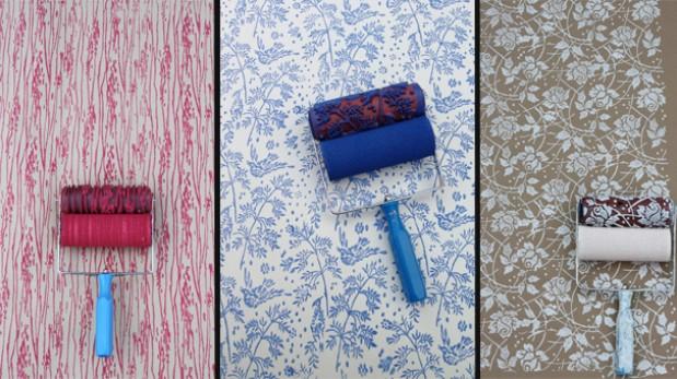 Reemplaza el papel tapiz con esta creativa brocha de for Disenos para pintar paredes