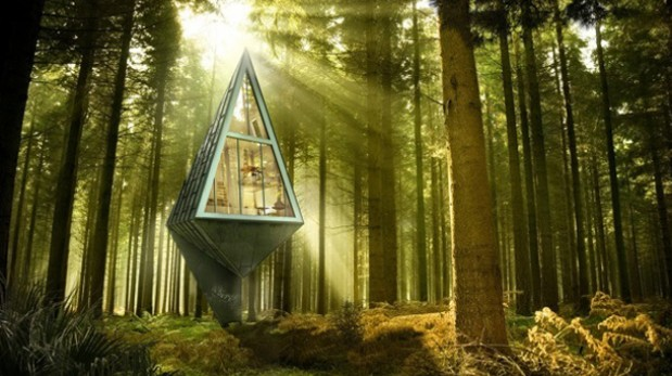 ¿Vivirías en esta casa en medio del bosque?
