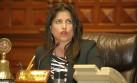 Carmen Omonte: Gana Perú la cuestiona por ocultar concesiones