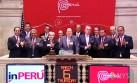 inPerú abrió con un 'campanazo' la sesión en Wall Street