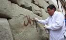 Pintan la Piedra de los Doce Ángulos en el Cusco