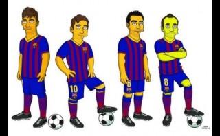 Neymar, Messi, Xavi e Iniesta: nuevos personajes de Los Simpson