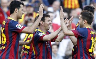 Barcelona goleó 7-0 a Osasuna con triplete de Lionel Messi