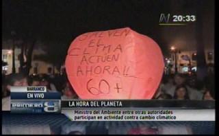 Peruanos se unieron a La Hora del Planeta