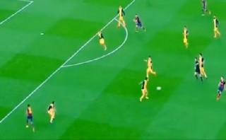 Iniesta y su genial pase para el golazo de Neymar ante Atlético