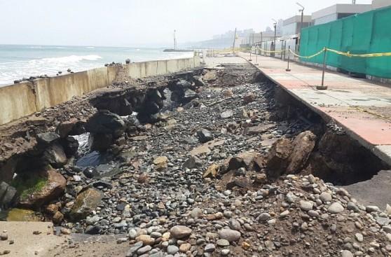 Barranco: daño en el malecón es anterior al terremoto en Chile