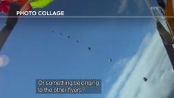VIDEO: Paracaidista se salva de chocar contra un meteorito