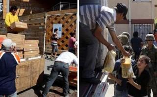 Chile: Llegan once toneladas de víveres para los damnificados