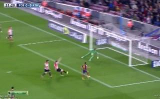 Alexis Sánchez falló lo que pudo ser el primer gol del Barza