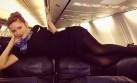 'Selfie' de altura: Mira el nuevo fenómeno entre las aeromozas