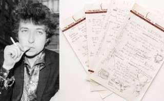 "Subastan manuscrito de ""Like a Rolling Stone"" de Bob Dylan"