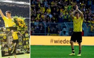 Lewandowski homenajeado por Dortmund en último partido de local