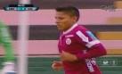Raúl Ruidíaz erró esta clara ocasión de gol ante San Martín