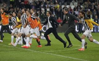 La Juventus celebró su título en la Serie A con triunfo