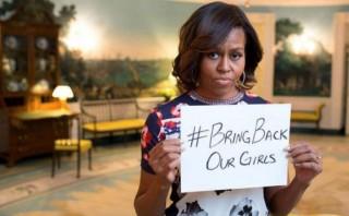 Michelle Obama recuerda a niñas secuestradas en Día de la Madre