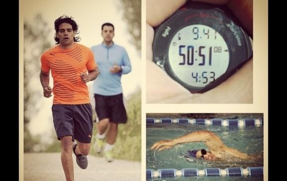 Radamel Falcao corre 9.4 km. diarios para llegar a Brasil 2014