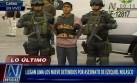 Nueve detenidos por crimen de Ezequiel Nolasco llegaron a Lima