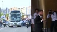 El Real Madrid llegó a Lisboa y recibió aliento de su hinchada