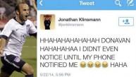 Hijo de Klinsmann cierra su Twitter tras burlarse de Donovan