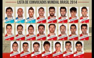 Del Bosque dio la lista y Diego Costa estará en el Mundial