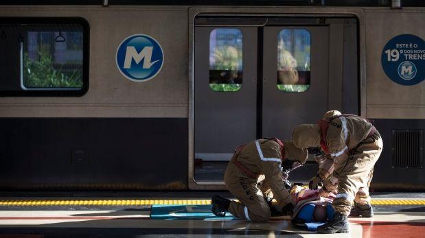 Brasil simula ataque terrorista en el metro de Río de Janeiro