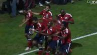 El gol que 'Teo' hizo en honor a los ciclistas colombianos