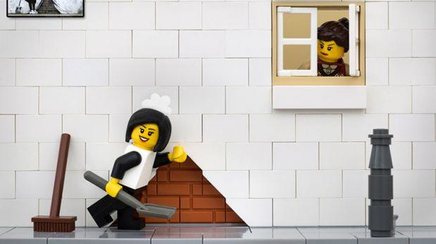 Fotógrafo usa los Legos de su hija para recrear obras de arte
