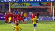 Mira el golazo de Neymar de tiro libre ante Panamá