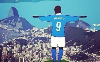 Balotelli es Cristo Redentor en nueva publicación en Instagram
