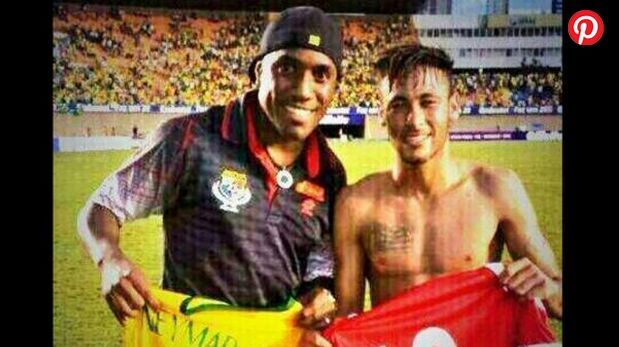 Luis Tejada intercambió camiseta con Neymar tras duelo amistoso