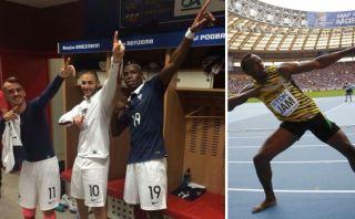 Jugadores franceses celebraron como Usain Bolt vía Twitter