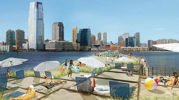 Proponen construir una 'playa flotante' en pleno Nueva York
