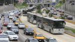 Largas colas de buses por accidente en la vía del Metropolitano - Noticias de accidente automovolistico