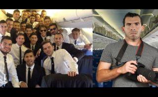 ¿Tévez en el avión argentino? La broma que circula en Twitter