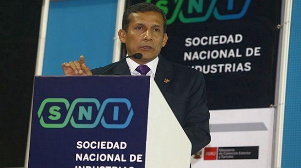 Humala presentó paquete de medidas en tres frentes