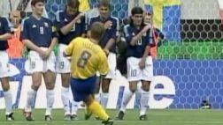 El golazo de Suecia que eliminó a Argentina en el Mundial 2002