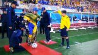 Parapléjico dio play de honor en inauguración de Brasil 2014