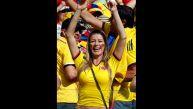 Colombia vs. Grecia: la belleza y la algarabía en las tribunas