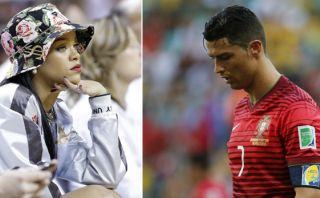 Rihanna sufrió con la derrota de Portugal en el Mundial