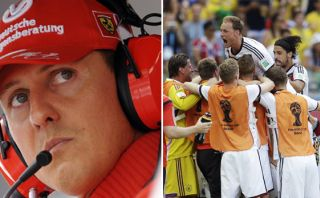 Alemania goleó con la buena estrella de Michael Schumacher
