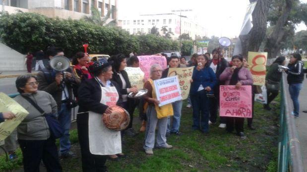Trabajadoras del hogar protestaron en la Av. Salaverry