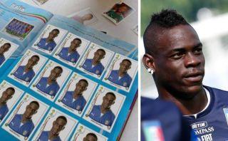 Balotelli llenó solo con sus figuras álbum Panini del Mundial