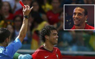 Pepe y su expulsión: Ferdinand insultó al luso en Twitter