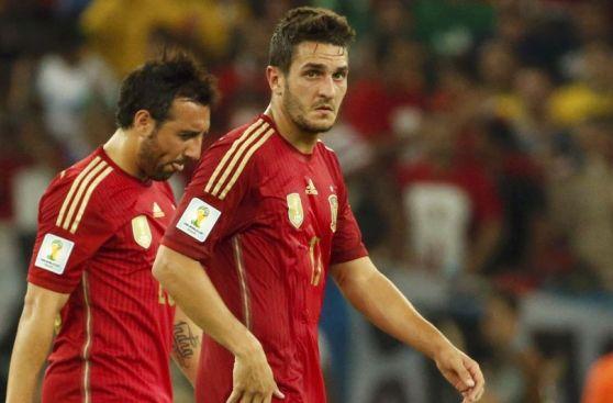 Desilusión de España tras ser eliminada del Mundial por Chile