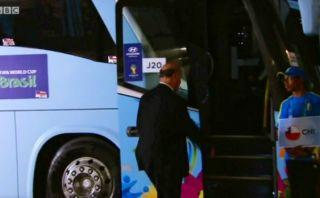 Vicente del Bosque, perdido: casi se sube al bus de Chile