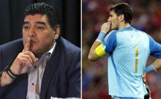 Maradona volvió a centrar sus críticas en Iker Casillas
